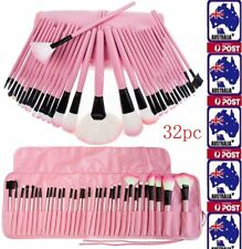 Pro 32Pcs Makeup Brush Cosmetic Tool Kit Eyeshadow Powder Brush Set Case Sponge