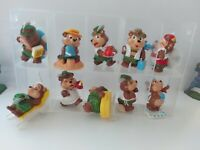 LOT DE 10 FIGURINES KINDER TEDDY BEAR VACATION