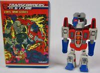 "Kidrobot G.I. Joe vs Transformers Starscream 3"" Vinyl Figure 2/24 Rarity"