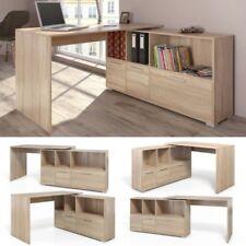 Large Wooden Corner Desk L-Shaped Flex System Sideboard Storage Home Office New