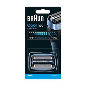 Braun 40B Replacement Cassette Head for °CoolTec Shaver Foil & Cutter Pack