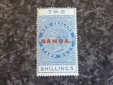 SAMOA STAMP DUTY POSTAGE STAMP SG122 2/- 1917 FLMM