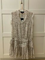 THE KOOPLES white floral dress brand new with tag size XS inside slip RRP 213