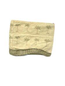 Discontinued Waverly Luxury Valance Curtain Tan Brown Green Palm Print Rare HTF