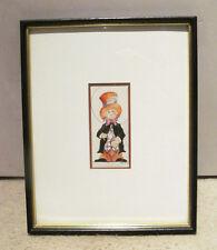 Artist Signed 1979 Original Mad Hatter Alice Wonderland Watercolor Painting