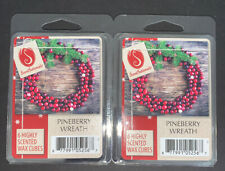 SCENTSATIONALS Scented Wax Cubes PINEBERRY WREATH / 2 Packs / 2.5 Oz Each