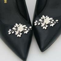 1 Paar Strass Perlen Schuhclips Hochzeit Schuhe Charme Dekor elegant