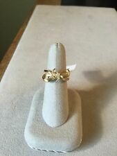 Stephen Webster 18K Yellow Gold .10ct Diamond Bow Ring Sz 8 Rt. $1295.