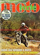 MOTO VERTE  38 FANTIC 125 RC HUSQVARNA WR YAMAHA DTMX Préparation KTM 1977