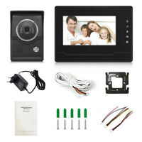 7 inch color LCD Wired Video Intercom System Doorbell with camera Night Vision D