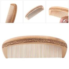 new Wide Tooth Natural Peach Wood Healthy No-static Massage Hair Wooden Comb