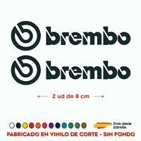 2X PEGATINA BREMBO PINZAS DE FRENO 8 CM COCHE CALIPER VINILOS ADHESIVO STICKER