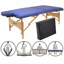 Master Massage Brady 71cm Portable Lightweight Package Bed Table Couch Blue