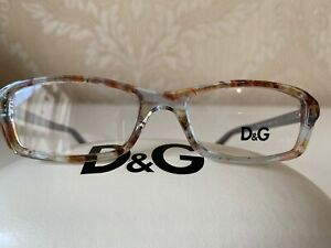 D&G Eyeglasses Frame DD 1217 1877 Azure Flowers 49MM