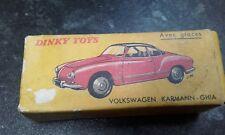 VW karmann ghia Dinky toy in original box