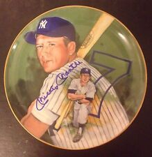 Mickey Mantle Autographed Plate #3236 by Marigold with COA & Original Box