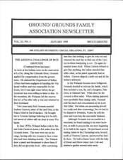 GROUND - GROUNDS FAMILY ASSOCIATION NEWSLETTER JANUARY 1995