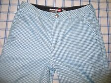 Quicksilver Amphibians Blue Plaid Casual Shorts 29