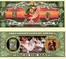 Cinco de Mayo Five Dollar Novelty Money
