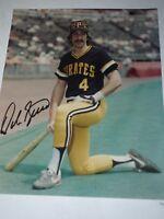 "Pittsburgh Pirates Dale Berra Autographed Color Photo 8"" x 10"""