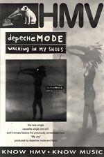 """1/5/93PGN40 DEPECHE MODE : WALKING IN MY SHOES SINGLE ADVERT 15X11"""""""