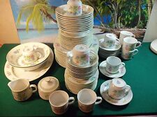 80 PIECE SET OF MIKASA FINE CHINA FLOWER SNOW L9002 MADE IN JAPAN