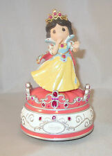 Snow White Precious Moments Music Box Seven Dwarves Disney Princess Prince Nwob
