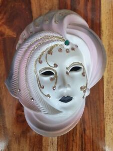 Vintage Wall Hanging Home Decor Carnival Ball Party Ceramic Face Mask