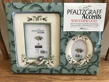NEW Set of 2 PFALTZGRAFF WINTERWOOD Picture Photo Frames ~ Chickadee -New in Box