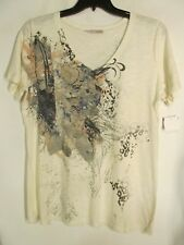 Maurices women size 1 Multicolor BLING short sleeve NWOT Lot#7