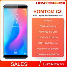 Nero 3000mAh 5.5'' HOMTOM C2 Cellulare FACE ID TOUCH ID Lte 4G Smartphone NUOVO