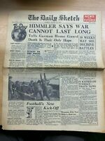 """WW2 """"HIMMLER ADMITS DEFEAT"""" THE DAILY SKETCH NEWSPAPER 19 OCT 1944"""