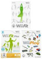 Nintendo Wii Spiel - Wii Games Bundle: Wii Fit + Wii Fit Plus + Wii Play mit OVP