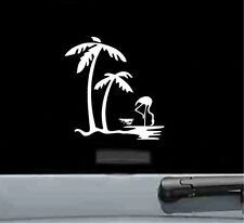 palm tree and flamingo vinyl decal sticker car truck bumper