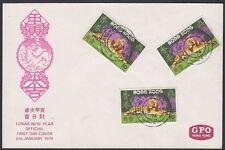 HONG KONG 1974. First Day New Year Tiger C88 (3), Shau Kei Wan