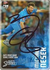 ✺Signed✺ 2014 2015 ADELAIDE STRIKERS Cricket Card MICHAEL NESER Big Bash League