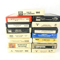 Lot of 15 Misc 8-Track Tapes Mitch Miller Carpenters Kenny Rogers Liberace Bing