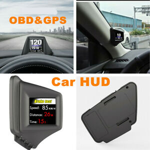 Car Universal HUD Head Up Display OBD GPS Speed Projector RPM Warning System