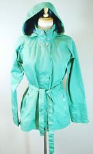Merrell Opti-Shell Frances Rain Jacket - Long Trench Coat - Womens Small - Green