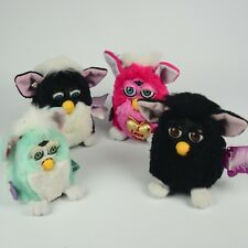Vintage Lot of 4  Furbys With Tags Tiger 1998 1999 Valentines Furby Parts Only