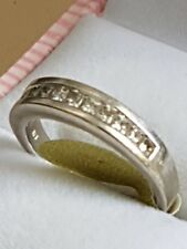 fine gold jewellery 9ct  white  gold  diamond ring 3.93   grams (10)