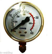 Manometer Sauerstoff 0-40 bar