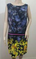 *NEW* Suzi Chin For Maggy Boutique 100% Silk Sheath Dress Sleeveless Women's 10