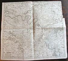 Carte de la prevote et vicomte de Paris, gravée par Inselin (1673 -17..) carte o
