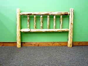 Rustic Log Headboard - Queen $349 - FREE SHIPPING