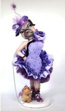 """Katherine's Collection Retired 34"""" Purple Coco Pug Doll Display NEW"""