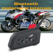 1x V6 1200M Intercom Interphone Bluetooth Motorcycle Helmet headset for 6 Riders