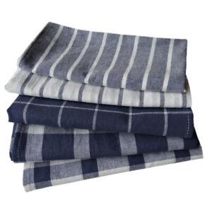 Up to 5pcs 100% Cotton Linen Kitchen Cloth Napkins Tea Towel Teatowels Absorbent