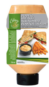 Culinary Treasures Jalapeno Lime Aioli Dipping Sauce, 2 x 750ml FREE DELIVERY