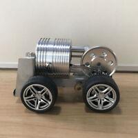 Mini Hot Air Stirling Engine Car Power Motor Generator Model Educational Toy Kit